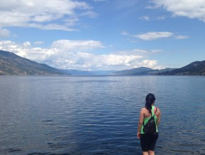 Overlooking Okanagan Lake.