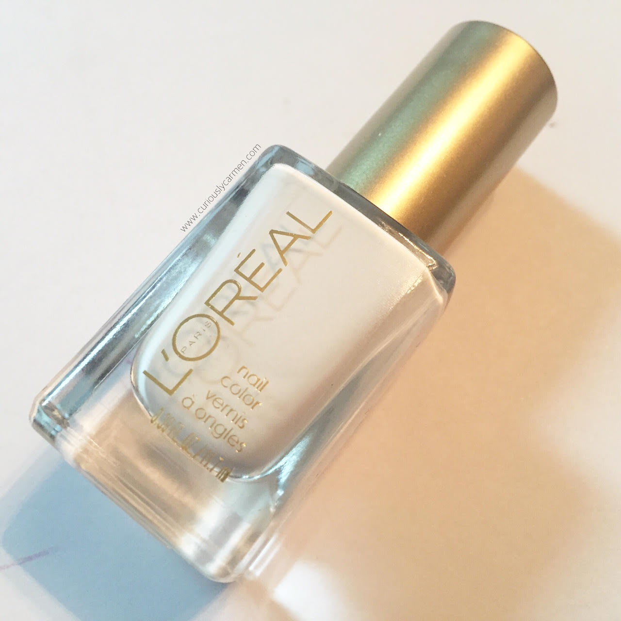 L'Oreal Nail Colour White Packaging