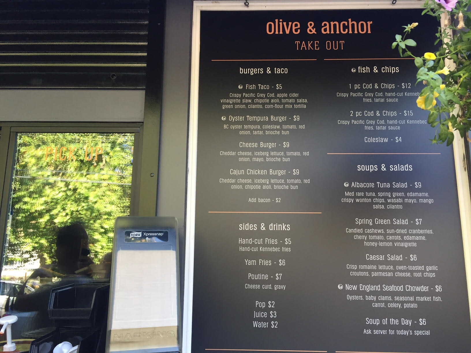 Olive & Anchor Take out