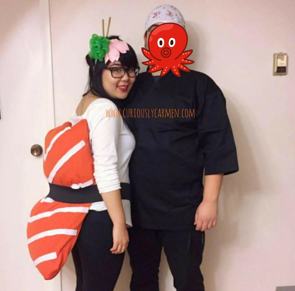 sushi costume w/ wasabi headband diy (no sewing needed) - curiously