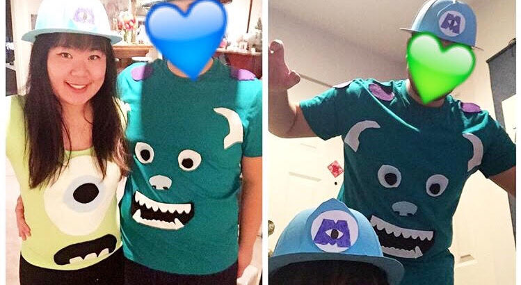 sully mike diy costume monsters inc couples