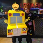 Ms Frizzle & Magic School Bus DIY Costume (No sewing required)
